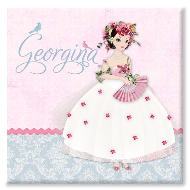 Damask Belle personalised canvas print gift