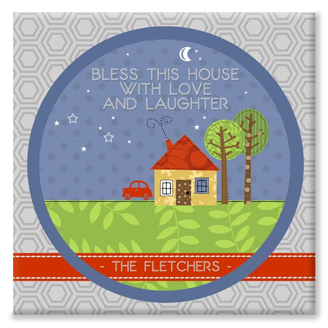 Bless This House personalised canvas gift