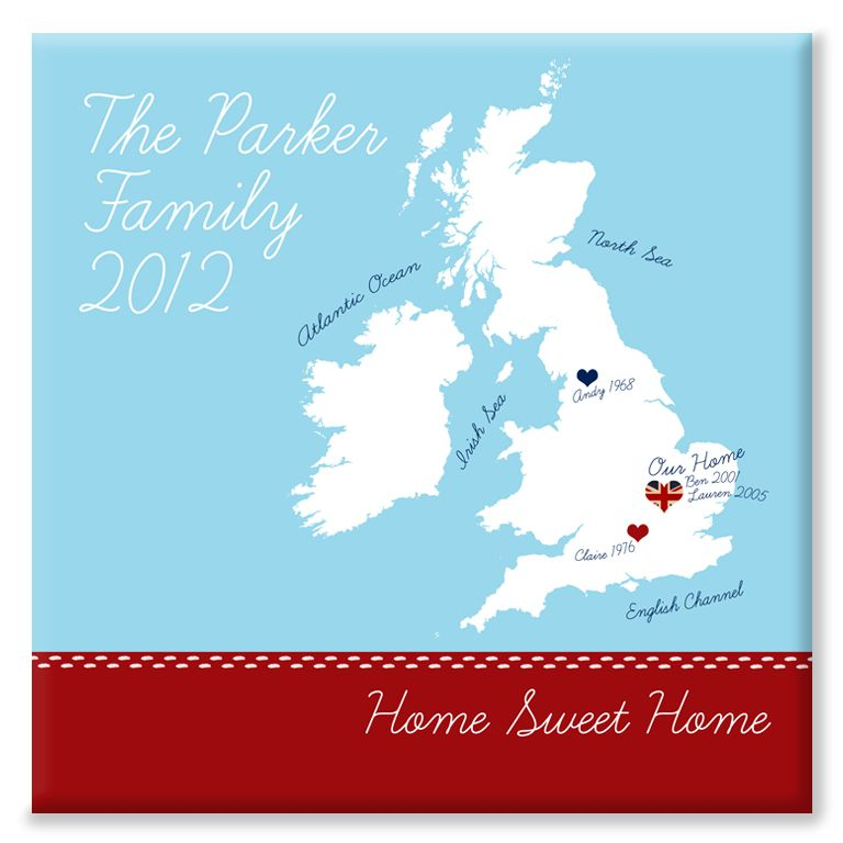 Home Sweet Home personalised canvas