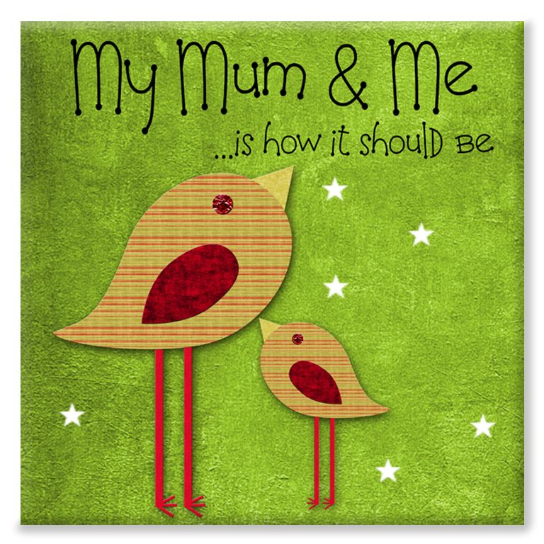 My Mum and Me personalised mothers day canvas gift