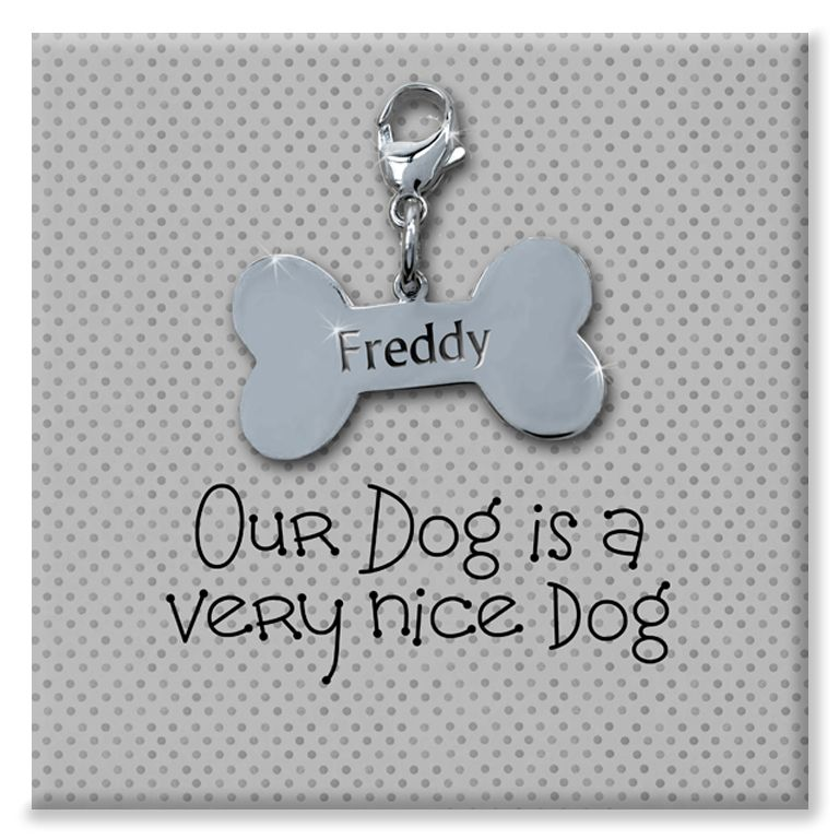 Our Dog personalised canvas print