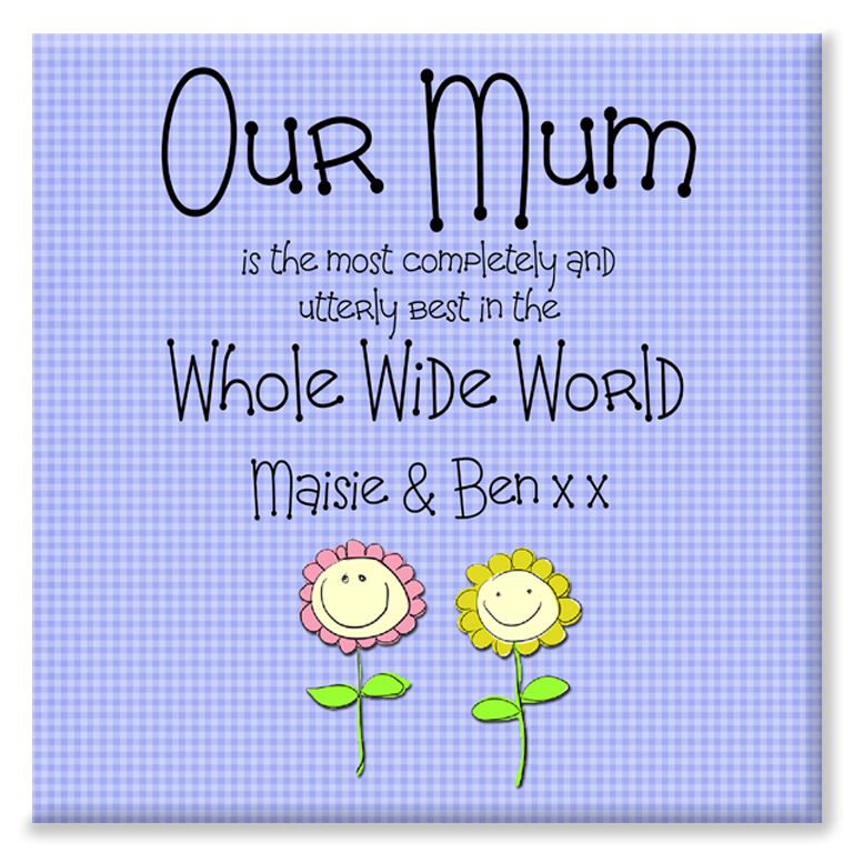 Our Mum personalised mother's day gift canvas print