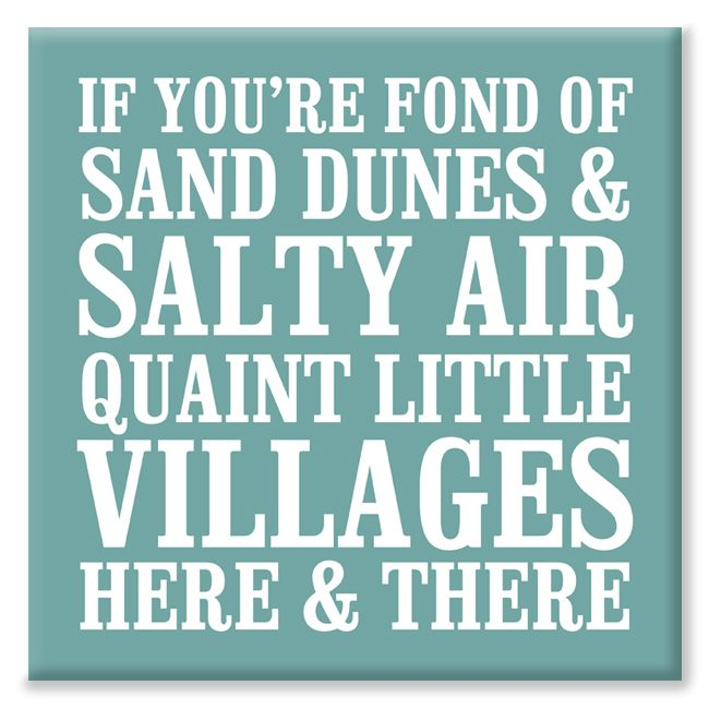 Sand Dunes Salty Air bespoke nautical canvas print