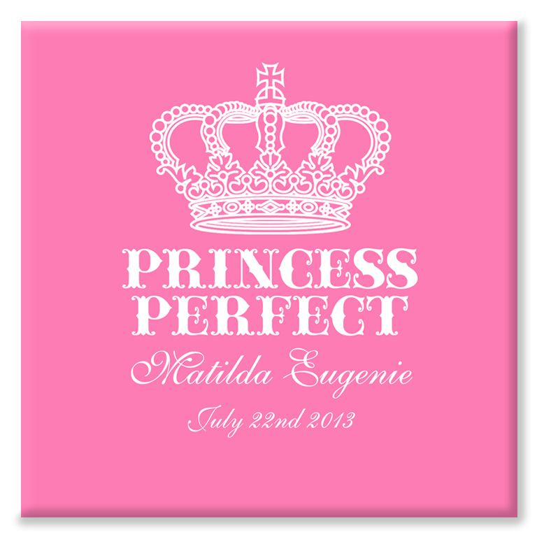Princess Perfect personalised canvas print