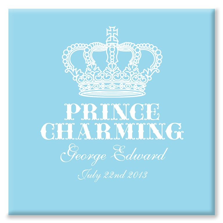 Prince Charming personalised canvas print