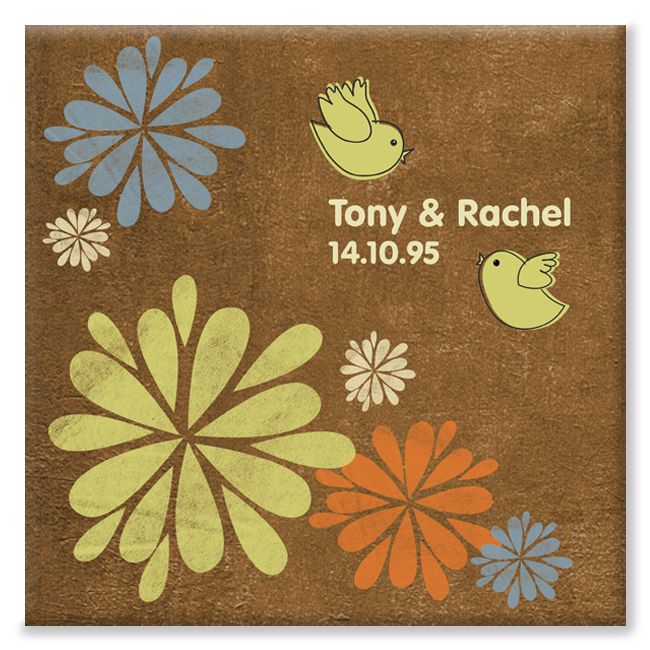 Gerbera personalised anniversary canvas gift