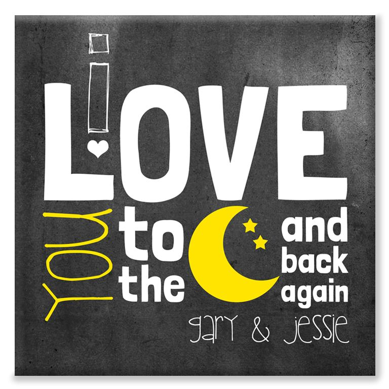 Love You to the Moon and Back personalised canvas print