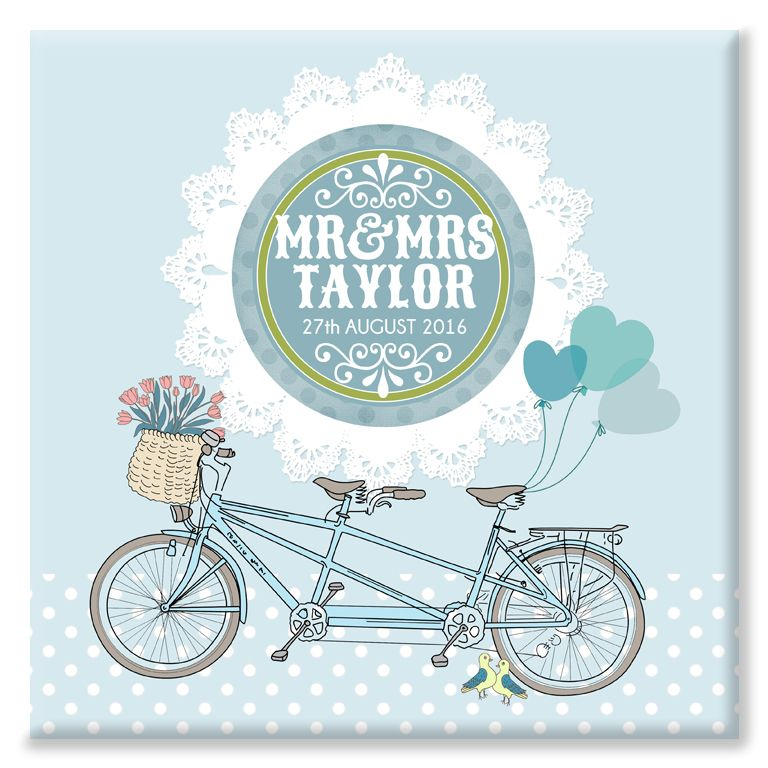 Bicycle Built for Two personalised canvas print gift
