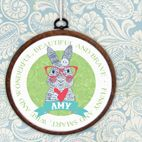 Personalised embroidery hoop print gift