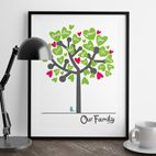 Personalised Family Tree print gift for him