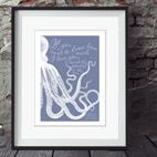 Personalised Waves in the Sea love print romantic gift for love