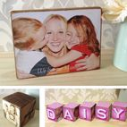 Personalised Wooden Photo Blocks