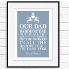 Personalised Fathers Day print gift typography word art