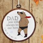 Personalised embroidery hoop print Fathers Day gift