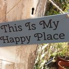 Handmade outdoor wooden plaques and house signs bespoke personalised