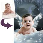 Fantasy photo portraits for baby gift