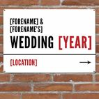 Wedding personalised metal street sign gift