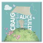 Family Home  personalised canvas print gift