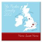 Home Sweet Home personalised canvas print gift for family