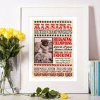 Kissing Personalised Vintage print valentine gift