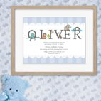 Personalised meaning of name new baby christening gift