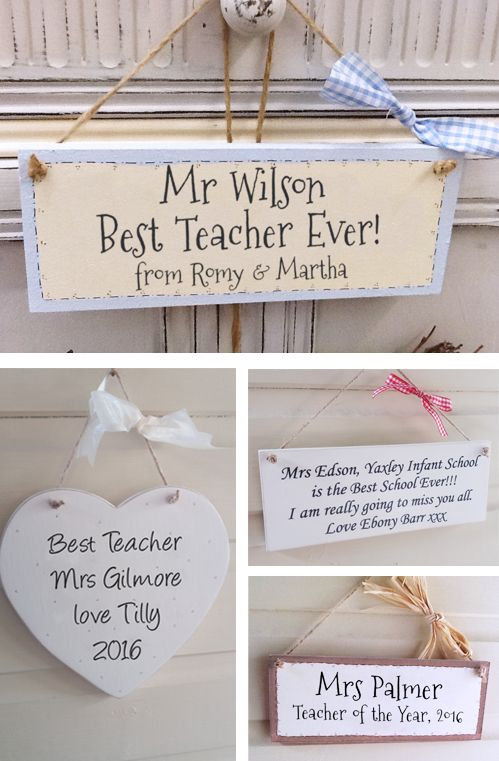 Personalised Wooden Teacher Gift Plaque