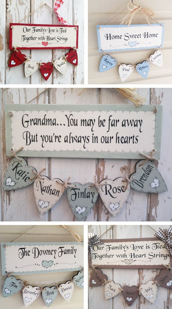 Personalised Wooden Family Tree plaque