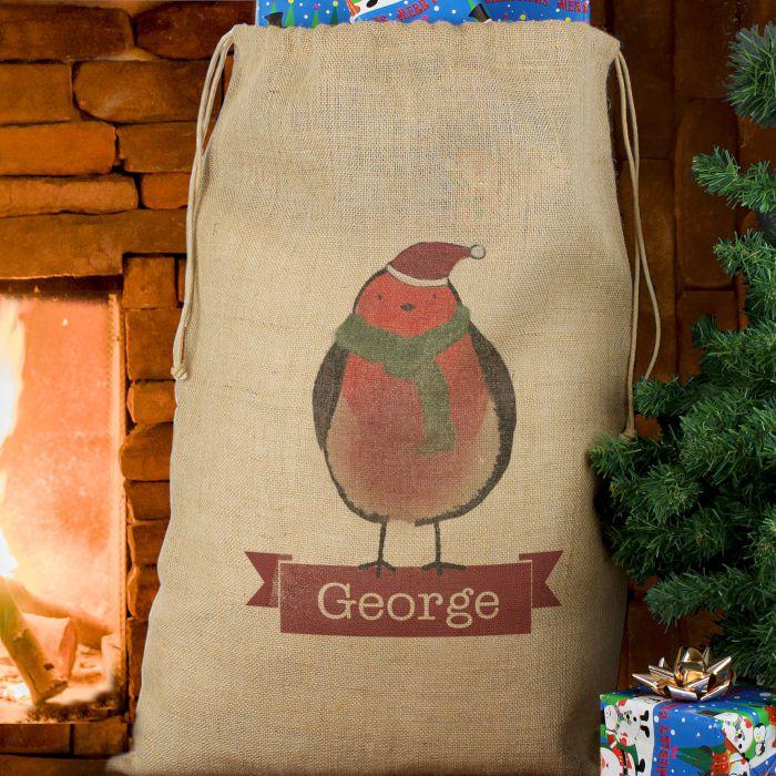 Personalised Christmas Santa Hessian Sack