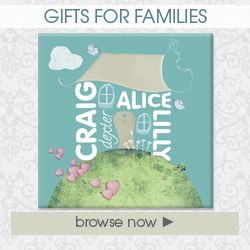 Handmade Personalised gifts for families