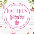 Personalised round house signs wall plaques exterior interior gift for garden