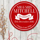 Personalised round wall signs house plaques wedding gift