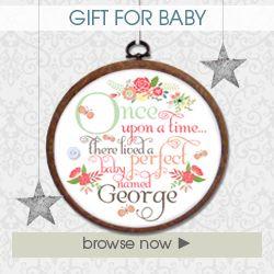 Handmade prsonalised gifts for baby christening