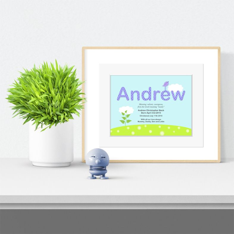 Summer personalised meaning of name print