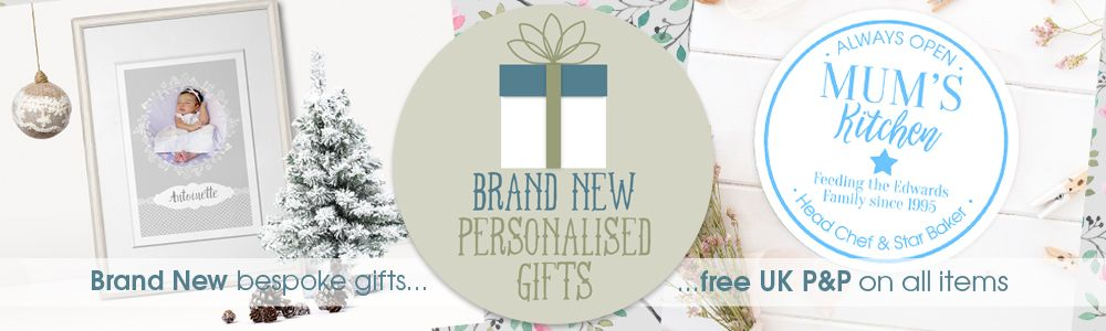 Winter 2016 new personalised gifts