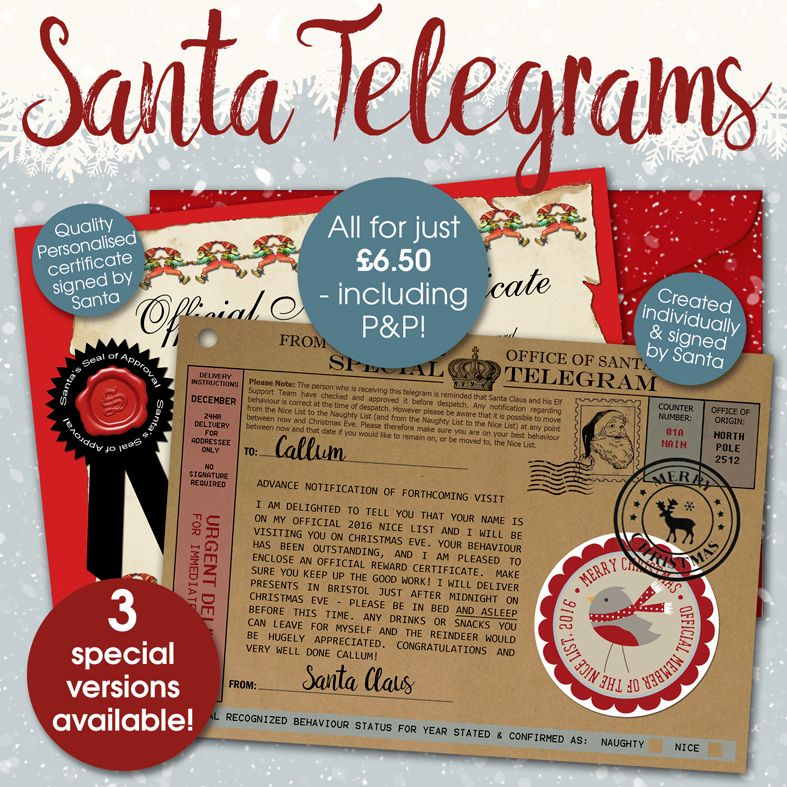 Personalised Santa Telegrams 2016 PhotoFairytales