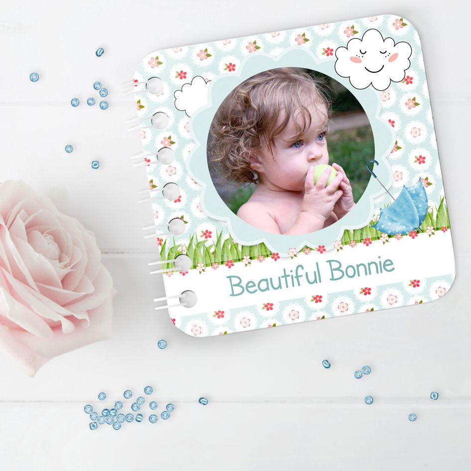 Personalised baby board book handmade Summers Day photo gift toddler