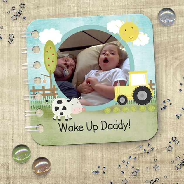 Personalised baby board book handmade photo gift