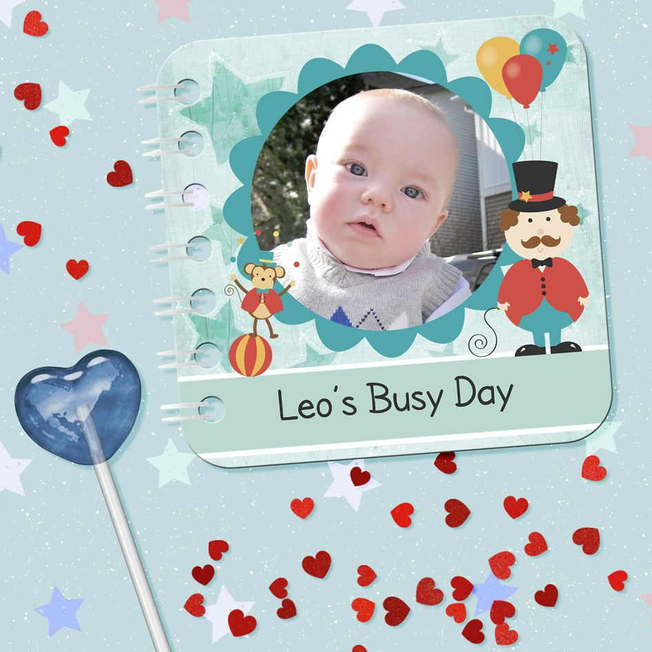 Personalised baby board book bespoke handmade photo gift