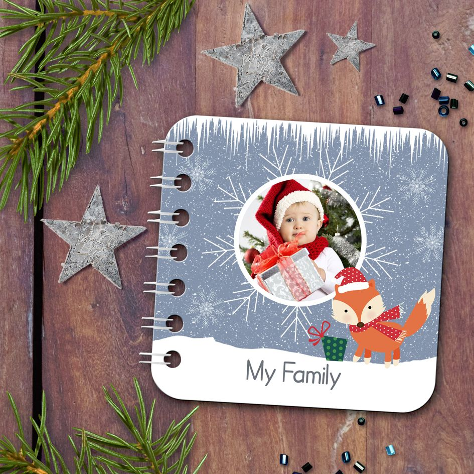 Personalised baby board book Christmas handmade gift