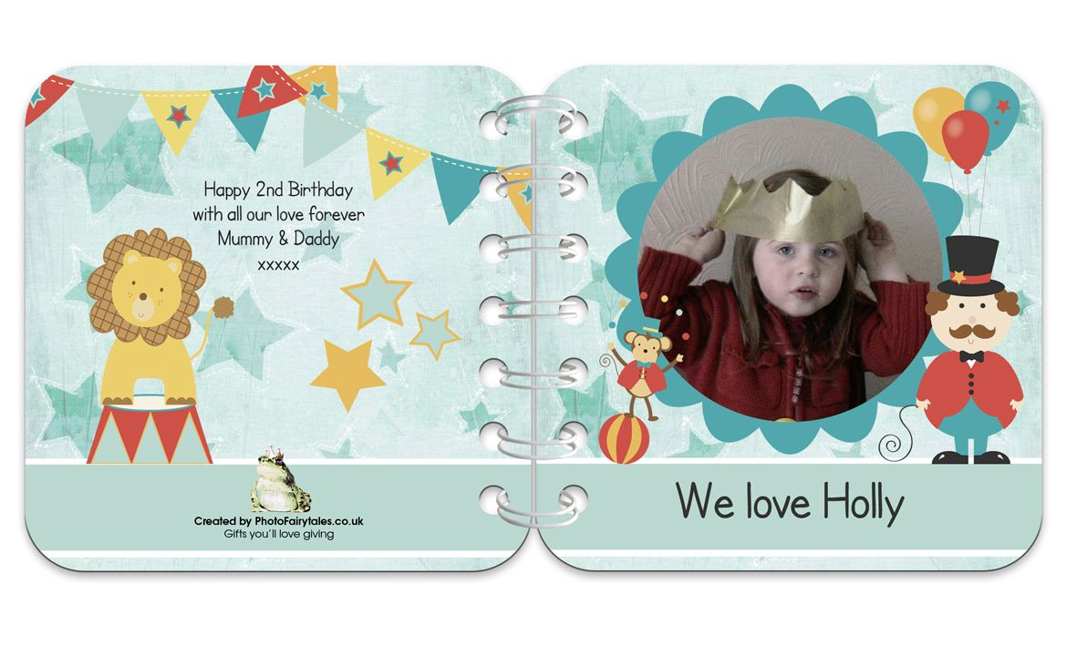 Circus Personalised Baby Board Book | handmade board books, made to order, range of designs available, by PhotoFairytales.
