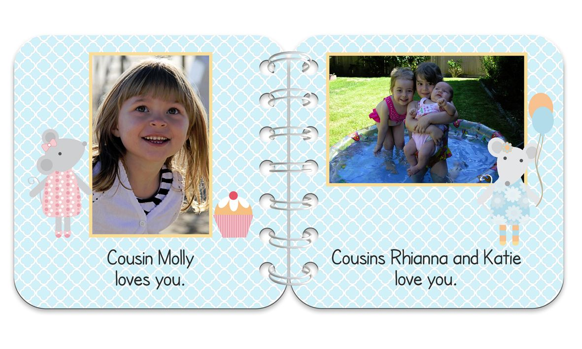 Little Mouse Personalised Baby Board Book | handmade board books, made to order, range of designs available, by PhotoFairytales.
