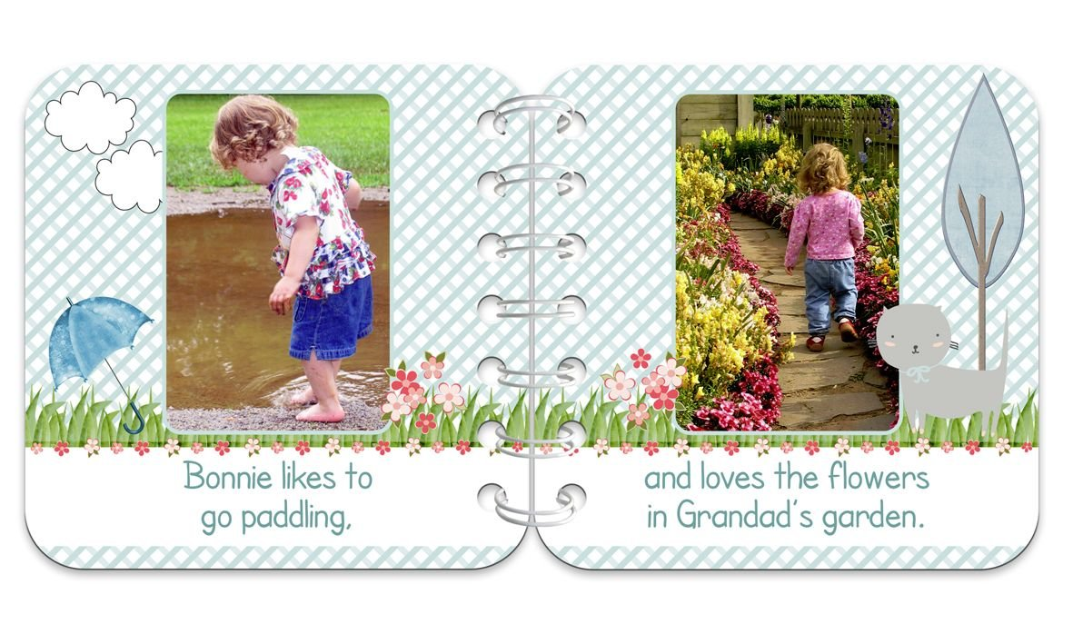 Summer's Day Personalised Baby Board Book | handmade board books, made to order, range of designs available, by PhotoFairytales.
