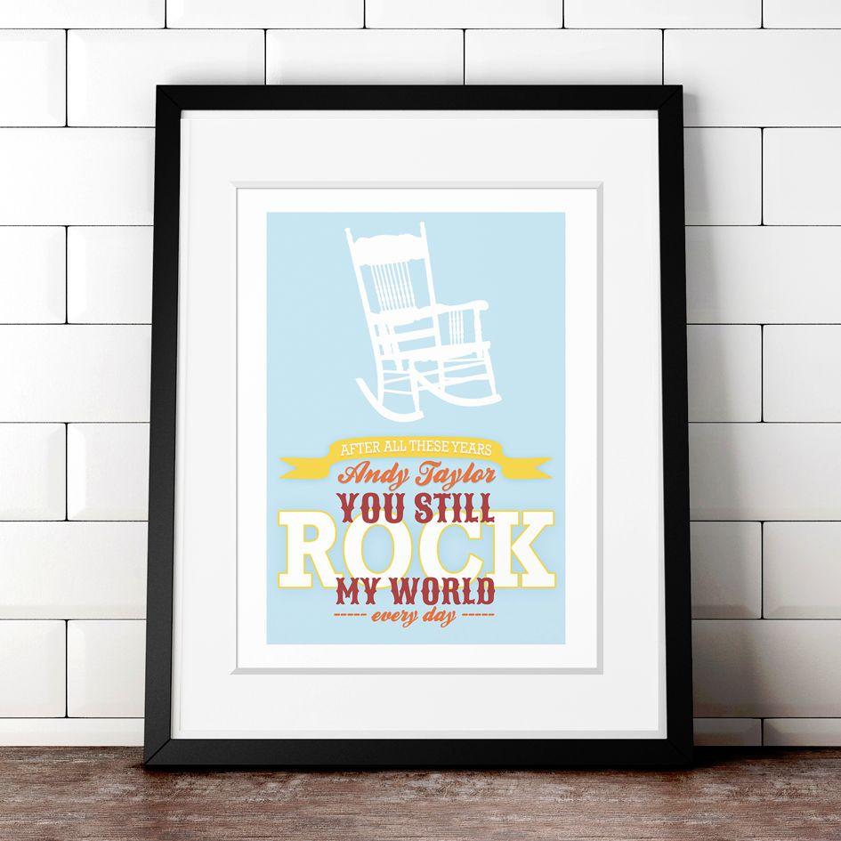 Personalised You Rock My World anniversary print | romantic gift from PhotoFairytales