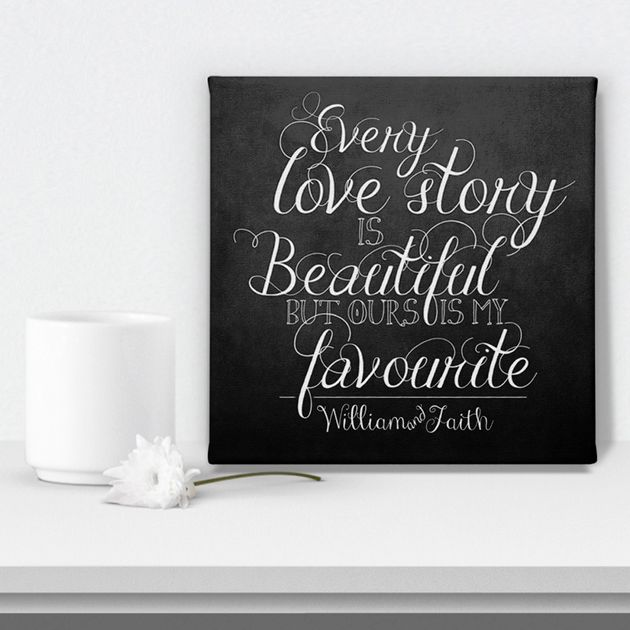 personalised canvas prints wedding Valentine anniversary gift