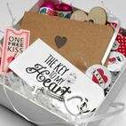 Personalised handmade love gift box mini hamper valentine gift