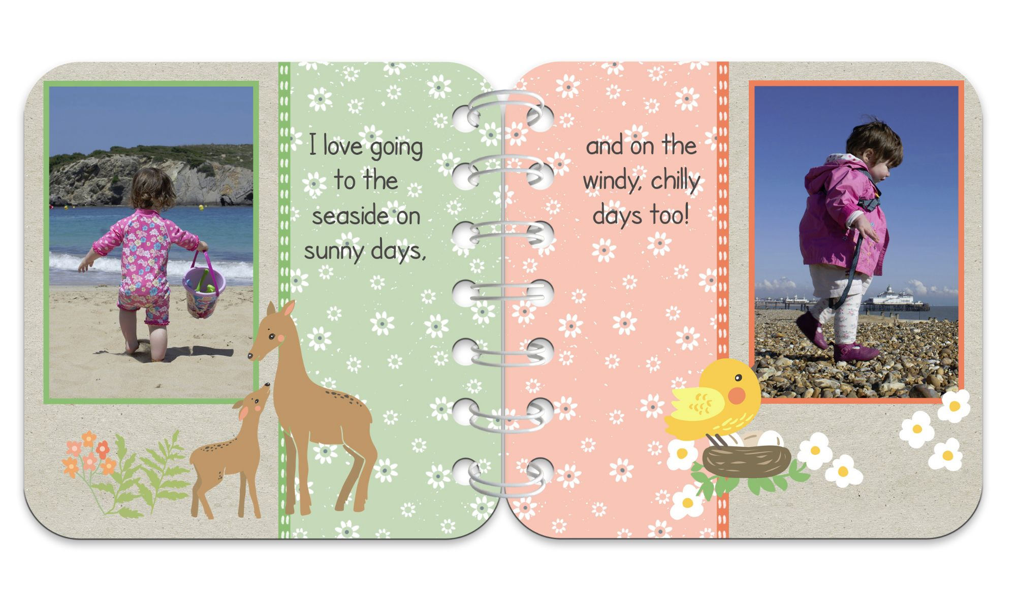 Springtime Personalised Baby Board Book | handmade board books, made to order, range of designs available, by PhotoFairytales.