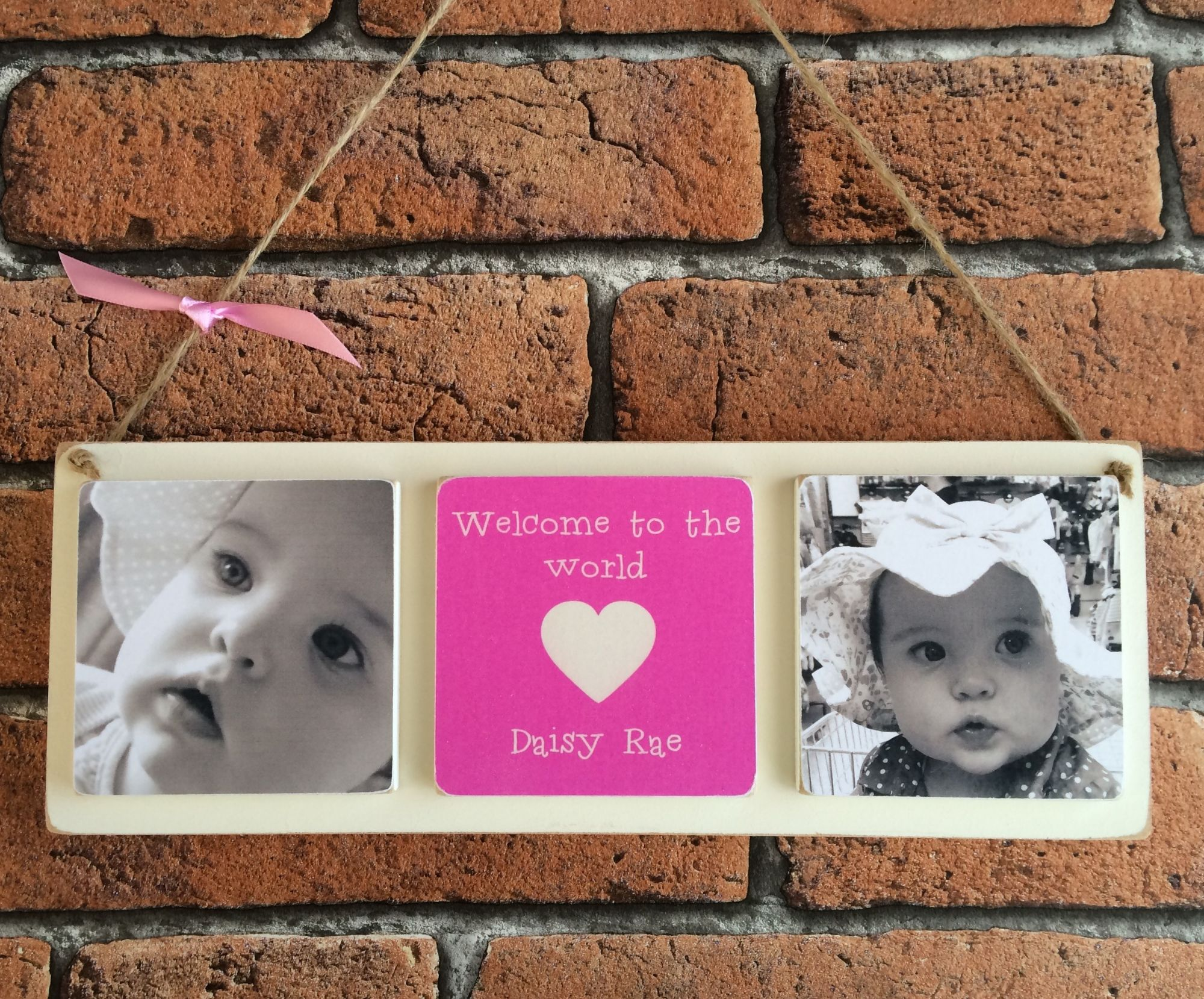 Personalised wooden photo plaque