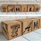 Personalised Family wooden photo blocks