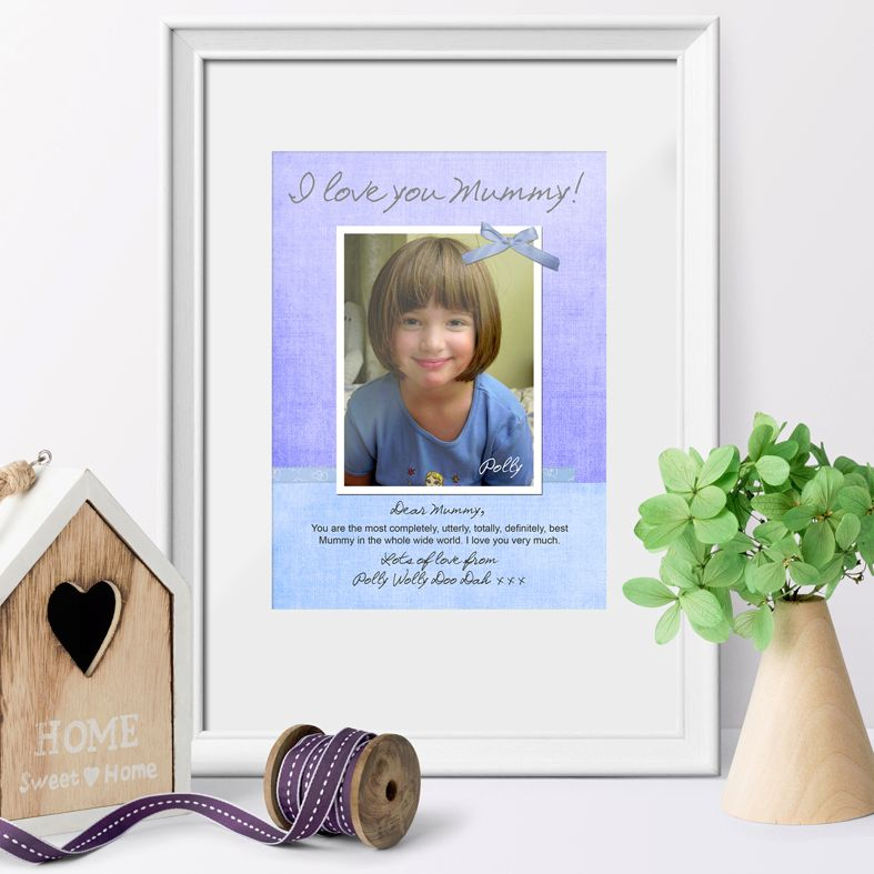 My Message to You personalised photo gift print