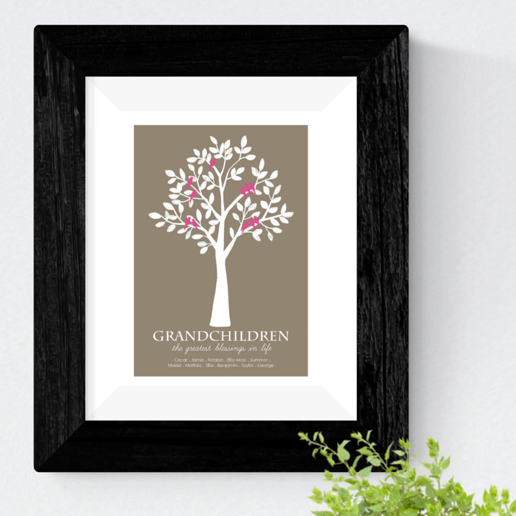 Grandchildren Family personalised gift idea